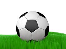 Soccer ball on Grass Football. For illustration Royalty Free Stock Photo