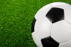 Soccer ball on grass III Stock Image