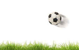 Soccer ball on grass. Isolated Royalty Free Stock Photography
