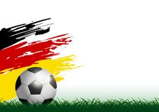 Soccer ball on grass with paintbrush vector illustation Stock Images