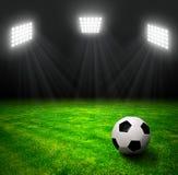 Soccer ball in grass Royalty Free Stock Photos