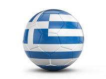 Soccer ball Greece flag Stock Images