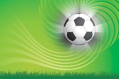 Soccer ball and green background Royalty Free Stock Image