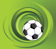 Soccer ball on the green background Royalty Free Stock Image