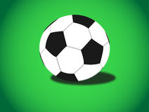 Soccer ball on green background Royalty Free Stock Image