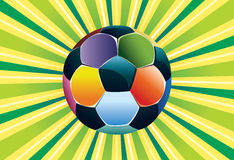 Soccer Ball on Green Background Royalty Free Stock Photography