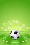 Soccer Ball on Green Background Stock Photo