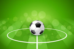 Soccer Ball on Green Background Royalty Free Stock Photos