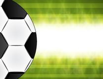 Soccer ball on green background poster Royalty Free Stock Image