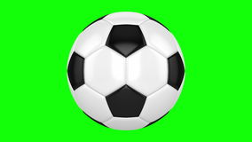 Soccer Ball On A Green Background stock video footage