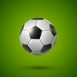 Soccer ball on green Royalty Free Stock Image