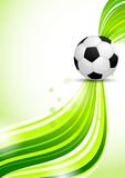 Soccer ball on green background Stock Image