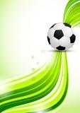 Soccer ball on green background vector illustration