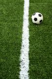 Soccer ball on green grass. The soccer ball on green grass stock image