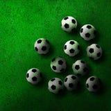 Soccer ball on green grass Stock Photography