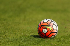 nike soccer ball grass field stock photos images