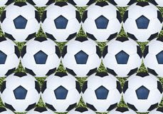 Soccer ball on green grass. Royalty Free Stock Photo