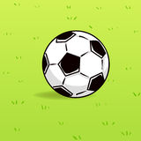 Soccer ball on green grass background Royalty Free Stock Photos