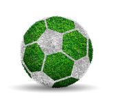 Soccer ball with green grass ball design Royalty Free Stock Images