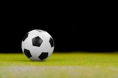 Soccer ball on the green grass. Stock Photo