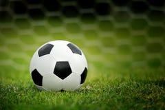 Soccer ball on green grass Royalty Free Stock Photos