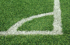 Soccer ball green grass field Royalty Free Stock Photos