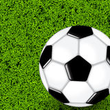 Soccer Ball On Green Grass Field Royalty Free Stock Photo