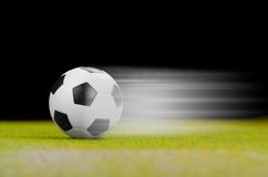 Soccer ball on the green grass. Stock Image