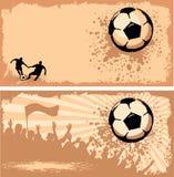 Soccer ball on grunge background Stock Photo