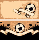 Soccer ball on grunge background Royalty Free Stock Image