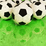 Soccer ball grunge background. Fine image of soccer ball background Stock Photography