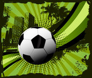 Soccer Ball grunge city Royalty Free Stock Photo