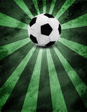 Soccer ball. Grunge style Royalty Free Stock Image