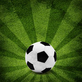 Soccer ball. Grunge style Stock Image