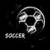 Soccer ball in grunge style royalty free illustration