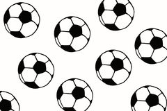 Soccer ball hand drawn simple illustration, black ball pattern o Stock Photo