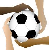 Soccer Ball Hands Illustration Stock Image