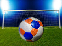 Soccer Ball Heading The Goal Royalty Free Stock Photos