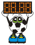 Soccer ball holding placards Stock Image