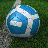 Soccer Ball with Honduras Flag Stock Image