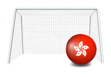 A soccer ball with the Hongkong flag Royalty Free Stock Images