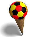 Soccer ball in an ice cream cone Stock Image