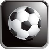 Soccer ball icon. Soccer ball sports web button Royalty Free Stock Image