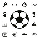 Soccer ball icon. Detailed set of Sport icons. Premium quality graphic design sign. One of the collection icons for websites, web. Design, mobile app on white Stock Illustration