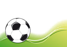 Soccer ball icon with field Stock Images