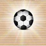 Soccer ball icon, flat design. blurry light Royalty Free Stock Images