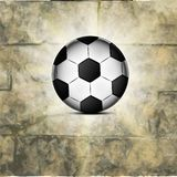 Soccer ball icon, flat design. Stock Photography