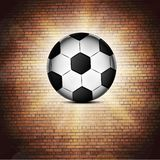 Soccer ball icon, flat design. Stock Images