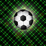 Soccer ball icon, flat design. Royalty Free Stock Photography