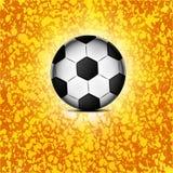 Soccer ball icon, flat design. Stock Image